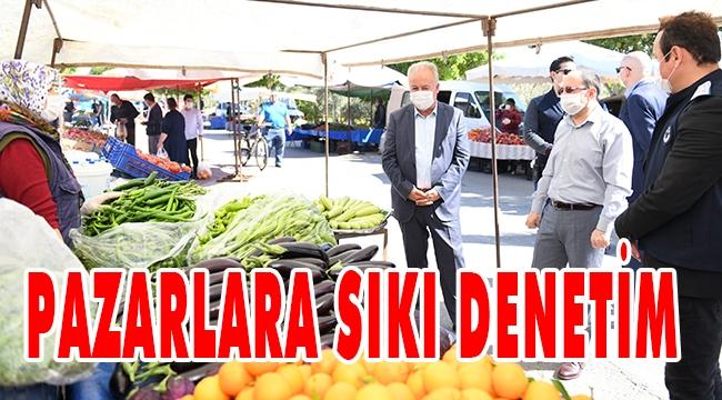 AKSU'DA PAZARLARA SIKI DENETİM