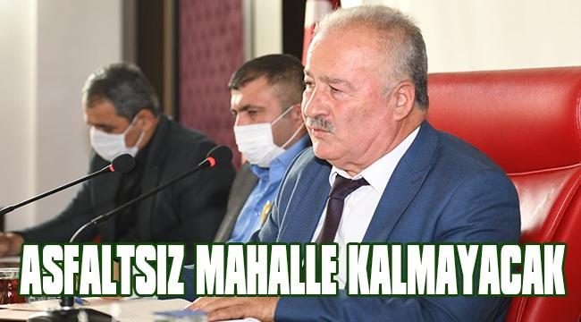 MAHALLELERE ASFALT GELİYOR