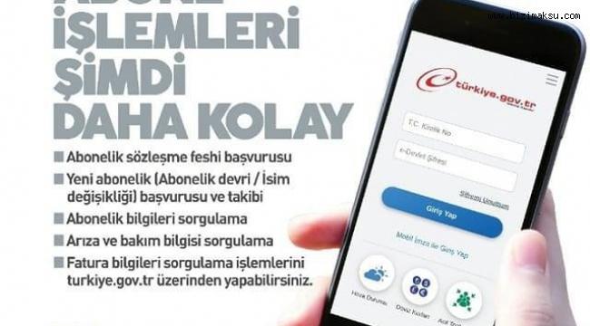 ASAT HİZMETLERİ E-DEVLETTE